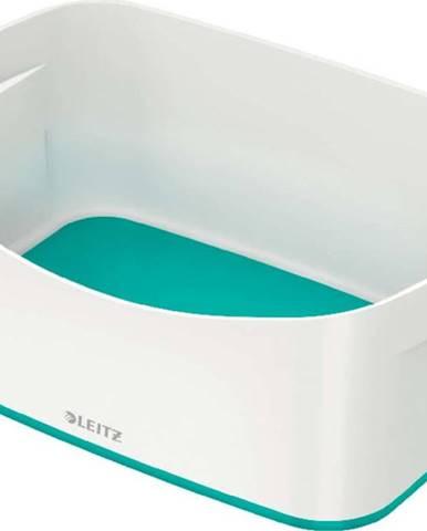 Bílo-tyrkysový stolní box Leitz MyBox, délka 24,5 cm