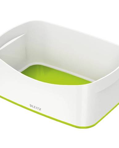 Bílo-zelený stolní box Leitz MyBox, délka 24,5 cm