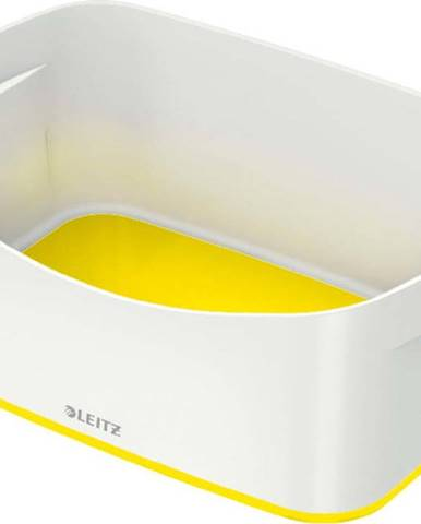 Bílo-žlutý stolní box Leitz MyBox, délka 24,5 cm