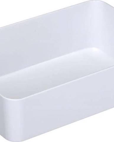 Bílý široký úložný košík Wenko Candy