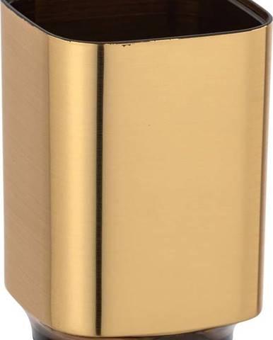 Kelímek na zubní kartáčky ve zlaté barvě Wenko Auron