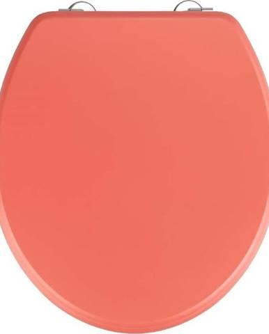 Korálově červené WC sedátko Wenko Prima Coral, 41 x 37 cm