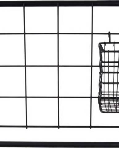 Nástěnný organizér v černé barvě PT LIVING Open Grid