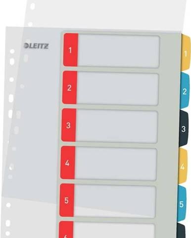 Numerický rejstřík se 6 štítky Leitz, A4