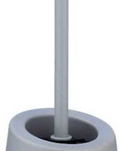 Šedý keramický toaletní kartáč Wenko Badi