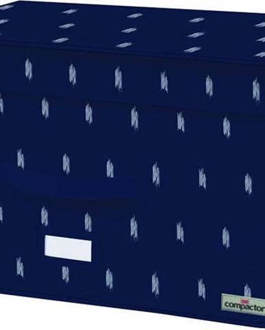 Tmavě modrý úložný box Compactor Trunk Kasuri, 150 l