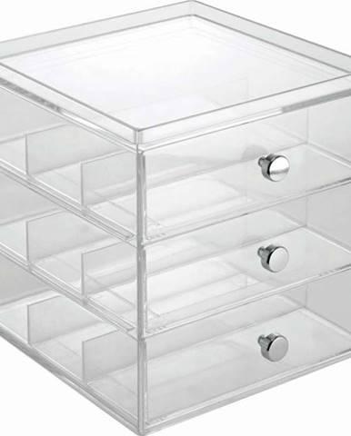 Transparentní organizér se 3 zásuvkami na brýle iDesign
