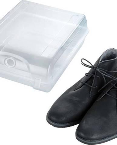 Transparentní úložný box na boty Wenko Smart, šířka 29 cm