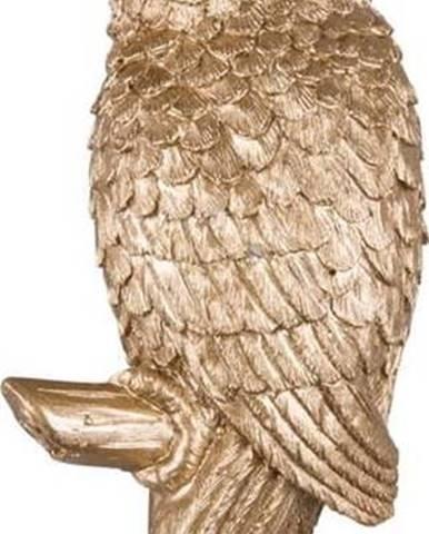Věšák ve zlaté barvě Leitmotiv Kakadu