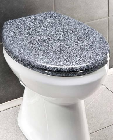 WC sedátko v žulovém dekoru se snadným zavíráním Wenko Premium Ottana, 45,2 x 37,6 cm