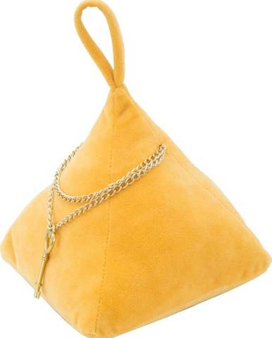 Žlutá zarážka do dvěří Mauro Ferretti Triangle, 14x14cm