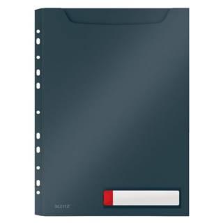 Šedé velkokapacitní kancelářské desky Leitz Cosy, A4