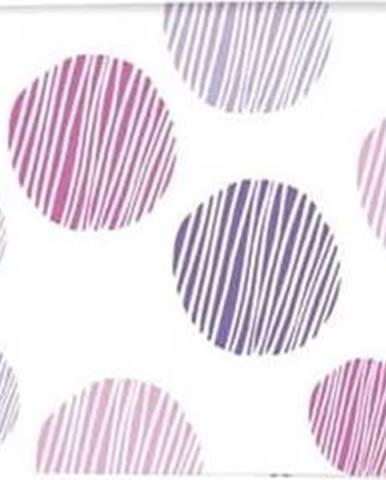 Bílo-fialový bavlněný potah na žehlící prkno Wenko Basic