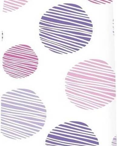 Bílo-fialový potah na žehlící prkno Wenko Dots M