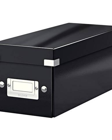 Černá úložná krabice s víkem Leitz CD Disc, délka 35 cm