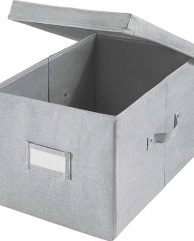 Šedý úložný box iDesign Codi, 39 x 28 cm
