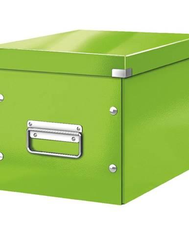 Zelená úložná krabice Leitz Office, délka 26 cm