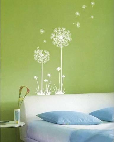Sada nástěnných samolepek Ambiance Dandelion Flowers Stickers