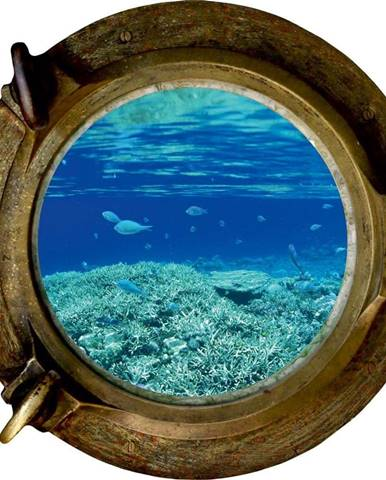 Dekorativní samolepka na zeď Oceán, 33 x 33 cm