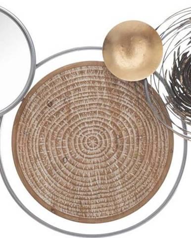 Kovová závěsná dekorace se zrcadlem MauroFerretti Etnic-B-, 107x77,5cm