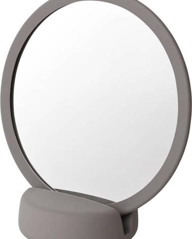 Šedé stolní kosmetické zrcadlo Blomus, výška18,5cm
