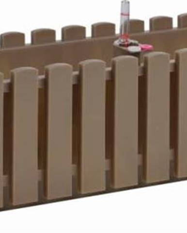 Šedohnědý truhlík Gardenico Fency System, délka 75cm