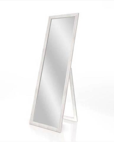 Stojací zrcadlo s bílým rámem Styler Sicilia, 46 x 146 cm