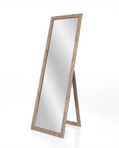 Stojací zrcadlo s hnědým rámem Styler Sicilia, 46 x 146 cm