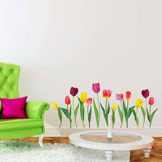 Sada samolepek na zeď Ambiance Colorful Tulips