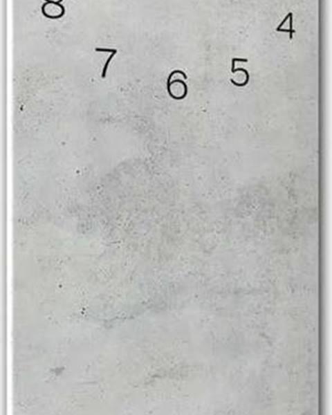 Styler Nástěnné hodiny Styler Glassclock Concrete, 20 x 60 cm
