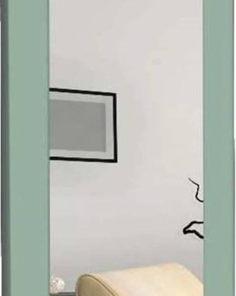 Oyo Concept Nástěnné zrcadlo se zeleným rámem Oyo Concept Chiva,40x120cm