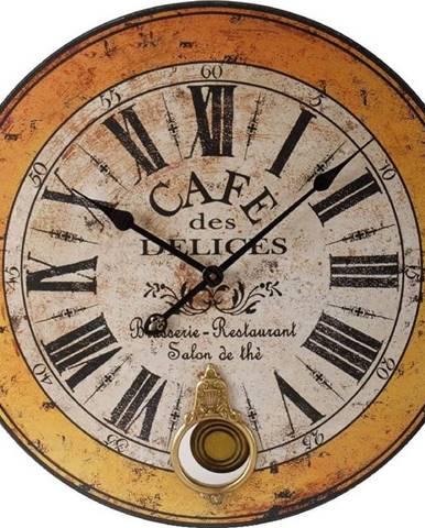 Hodiny Antic Line Cafe des Delices, 59 cm