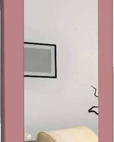 Nástěnné zrcadlo s růžovým rámem Oyo Concept Chiva,40x120cm