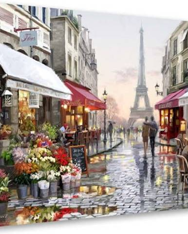 Obraz Styler Canvas Watercolor Paris I, 60 x 80 cm