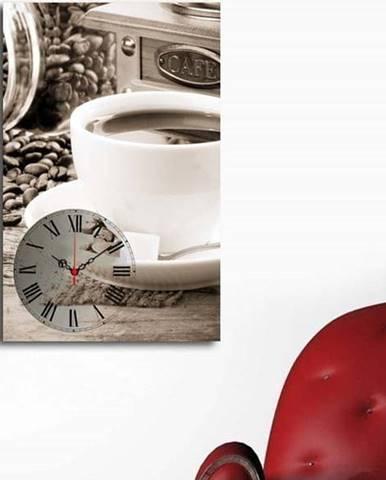 Obrazové hodiny Šálek kávy, 45x70 cm