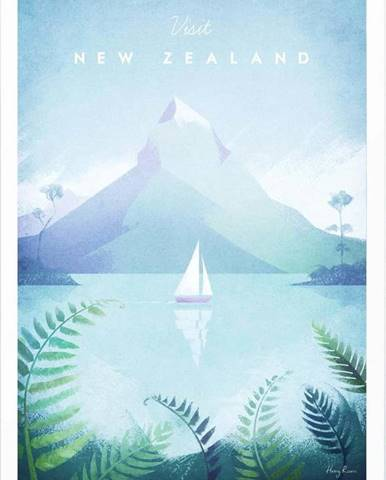 Plakát Travelposter New Zealand, A2
