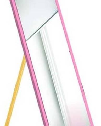 Stojací zrcadlo s růžovým rámem Oyo Concept,35x140cm