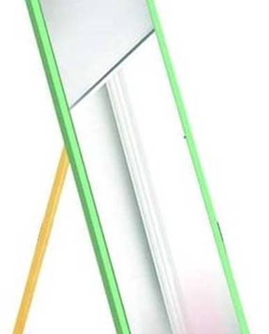 Stojací zrcadlo se zeleným rámem Oyo Concept,35x140cm