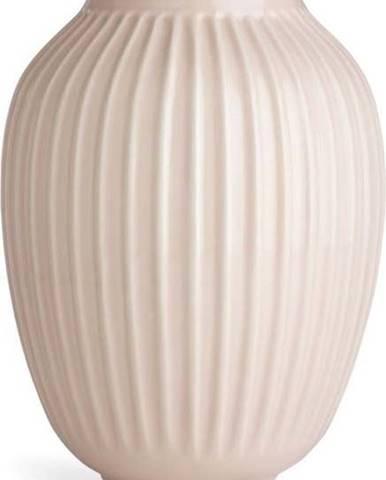 Světle růžová kameninová váza Kähler Design Hammershoi,výška 25 cm