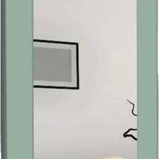 Nástěnné zrcadlo se zeleným rámem Oyo Concept Chiva,40x120cm