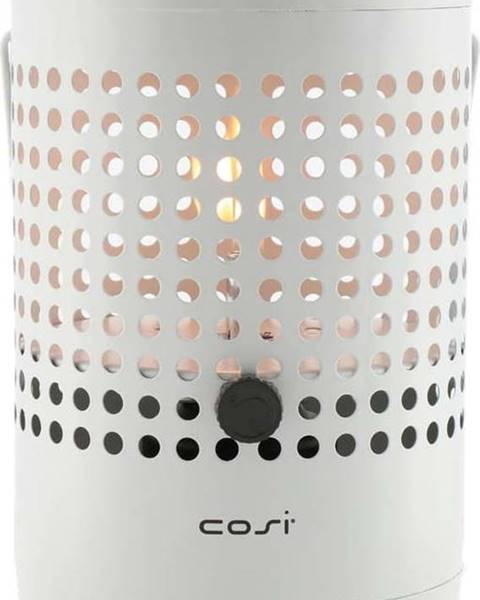 COSI Světle šedá plynová lampa Cosi Drop, výška 37 cm