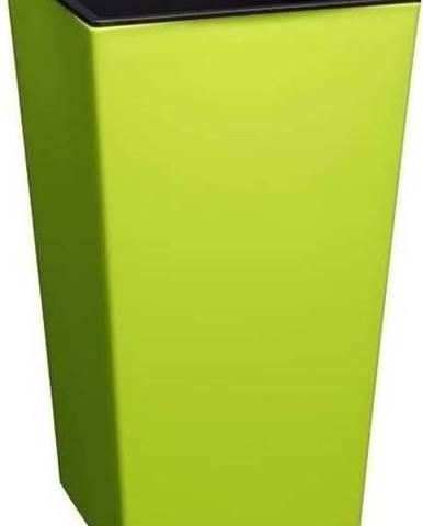 Lesklý hráškově zelený květináč vhodný i do exteriéru Gardenico Elise, výška36cm
