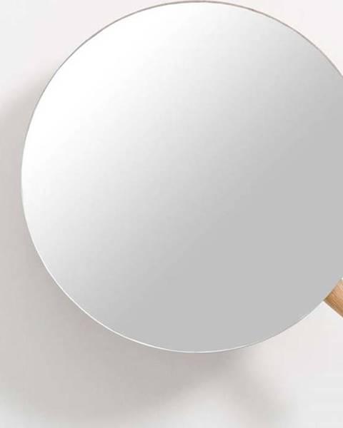 Wireworks Nástěnné kosmetické zvětšovací zrcadlo zdubového dřeva Wireworks Slimline