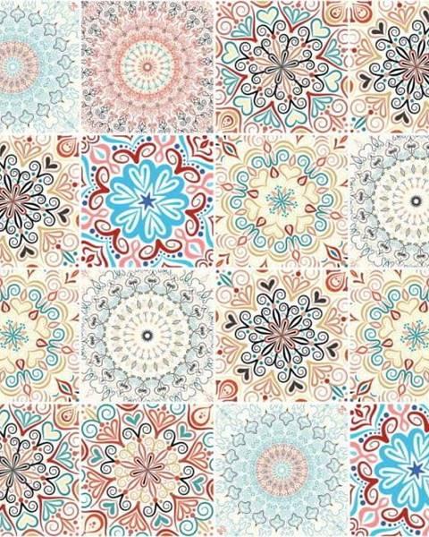 Ambiance Sada 24 samolepek Ambiance Flowers
