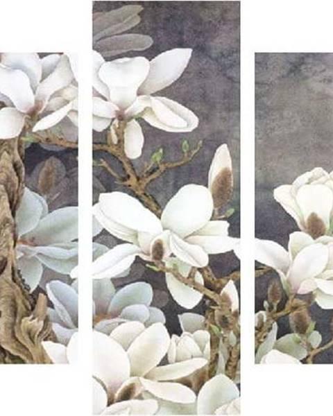 Destiny Vícedílný obraz White Blossom, 92x56 cm