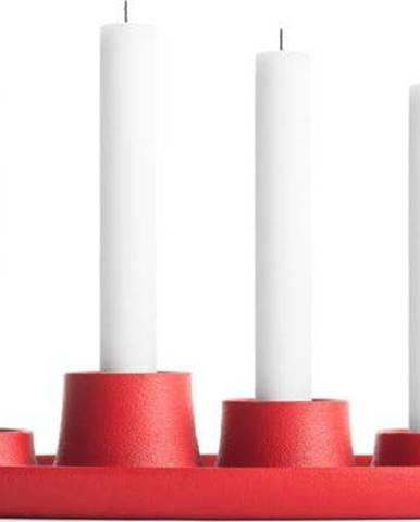 Červený svícen EMKO Aye Aye Four Candles