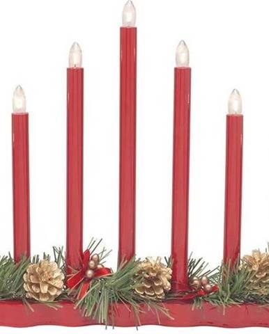 Červený svícen Markslöjd Hol, výška 30 cm