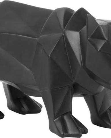 Matně černá soška PT LIVING Origami Rhino