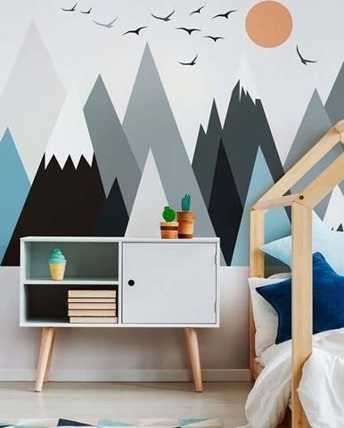 Nástěnná samolepka Ambiance Giant Kid Sticker Scandinavian Mountains Parka