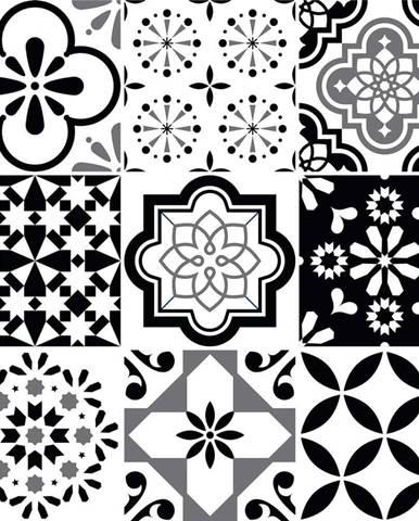 Sada 9 nástěnných samolepek Ambiance Cement Tiles Alexia, 10 x 10 cm